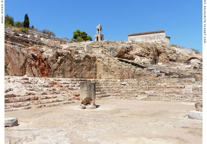 Part of the seating area of the Telesterion in Eleusis, Greece at My Favourite Planet