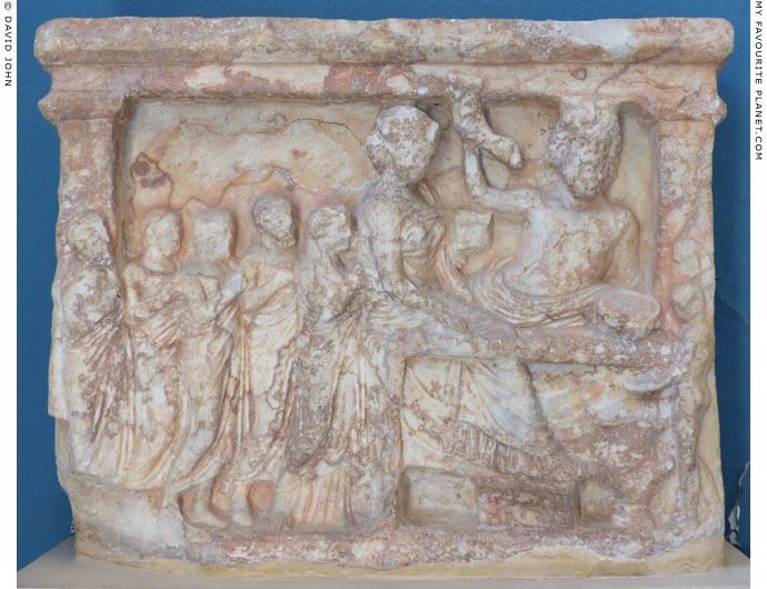 A votive relief depicting Persephone and Pluto with suppliants at My Favourite Planet