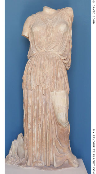 Marble statue of Demeter from the sanctuary at Eleusis at My Favourite Planet