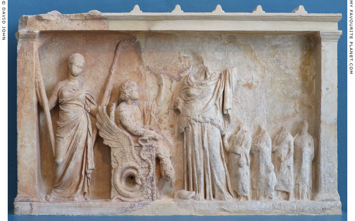 Votive relief depicting Triptolemos being sent on his mission at My Favourite Planet