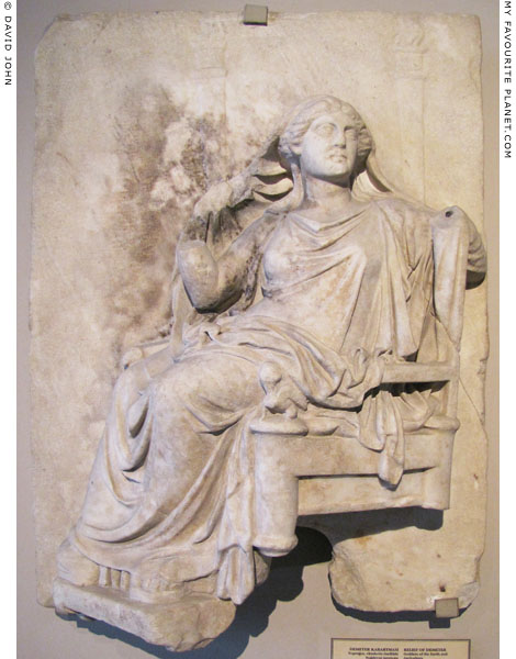 Marble relief of Demeter at My Favourite Planet
