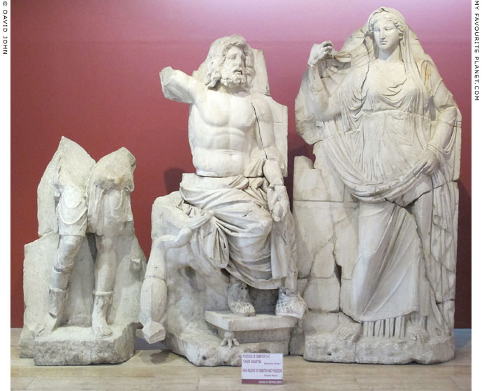 Marble reliefs of Poseidon and Demeter from Smyrna at My Favourite Planet