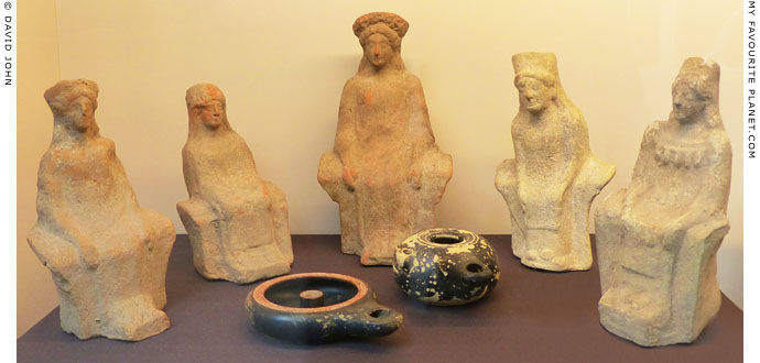 Terracotta figurines dedicated to Demeter and Persephone from Gela, Sicily at My Favourite Planet