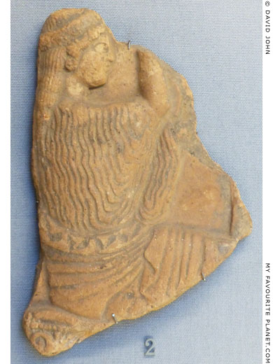 Terracotta plaque showing Persephone seated at My Favourite Planet
