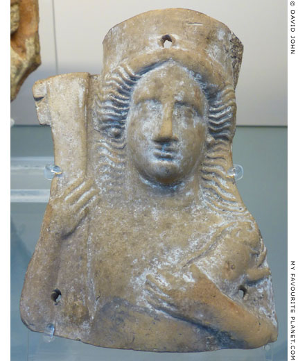Terracotta bust of Demeter or Persephone from Taranto at My Favourite Planet