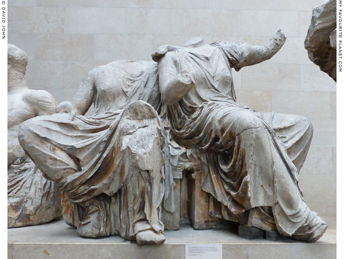 Statues of Demeter and Persephone from the Parthenon at My Favourite Planet