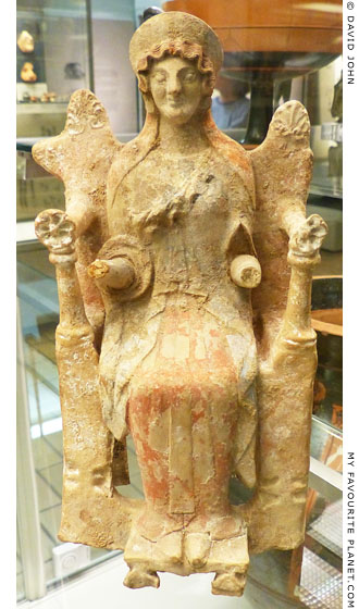 Terracotta figurine of an enthroned goddess at My Favourite Planet
