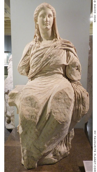 Marble statue of enthroned Demeter from the sanctuary of Demeter, Knidos at My Favourite Planet