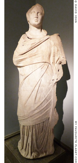 Marble statue of priestess of Demeter at My Favourite Planet