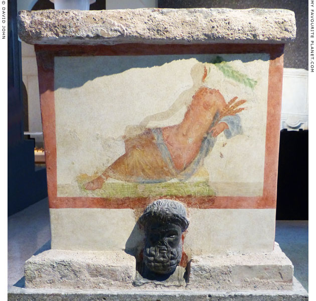 Painting of Tellus (Terra) or Ceres on a Roman altar at My Favourite Planet
