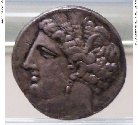 Sicilo-Punic coin with the head of Tanit-Persephone at My Favourite Planet