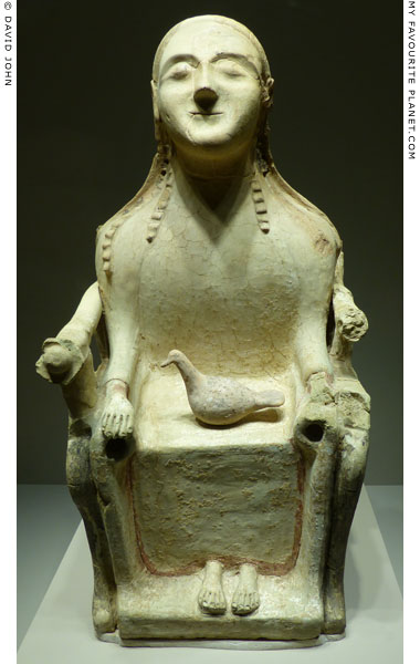 Terracotta statue of an enthroned deity from Sicily at My Favourite Planet