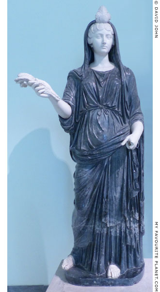 Marble statue of Fortuna-Isis restored as Faustina the Younger dressed as Ceres at My Favourite Planet