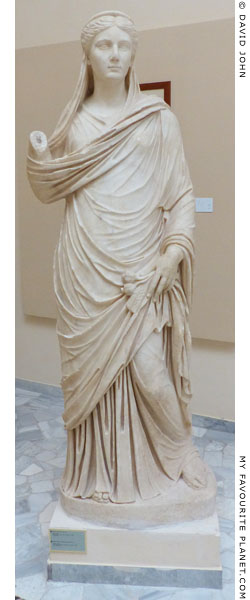 Marble statue of Sabina, wife of Emperor Hadrian, as Ceres, Ostia at My Favourite Planet
