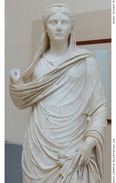 Detail of the statue of Sabina as Ceres at My Favourite Planet