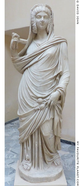 Marble statue of Julia Domna, wife of Septimius Severus, as Ceres, Ostia at My Favourite Planet