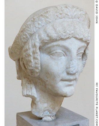 Marble head of a kore from Isola Sacra, Ostia at My Favourite Planet