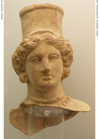 Terracotta bust of Demeter from Agrigento at My Favourite Planet