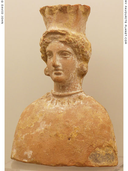 Terracotta votive bust of Demeter from Agrigento, Sicily at My Favourite Planet