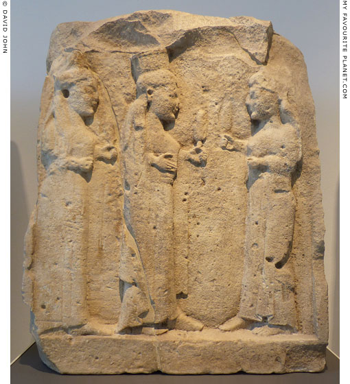 A metope relief of three goddesses from Temple Y, Selinunte at My Favourite Planet