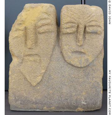 Stele with heads of a divine couple from the sanctuary of Zeus Meilichios, Selinous at My Favourite Planet