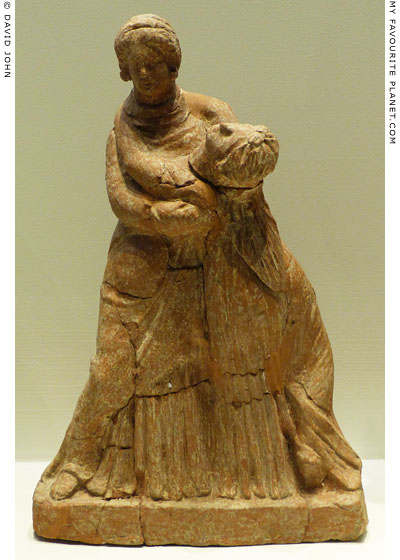 Terracotta votive figurine of Demeter and Persephone from Pella at My Favourite Planet