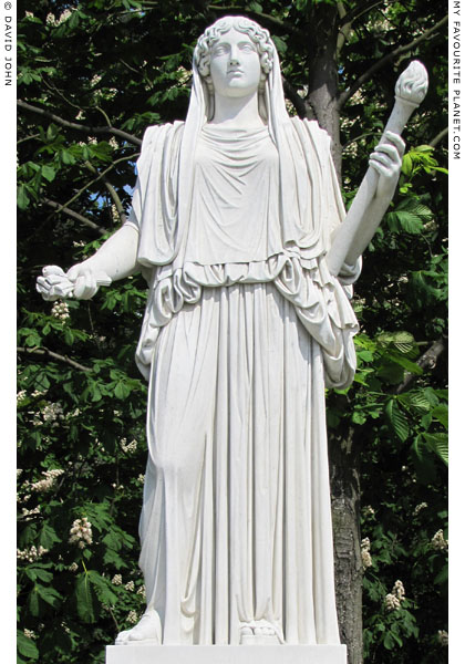 A copy of the Demeter Cherchel statue, Sanssouci, Potsdam at My Favourite Planet