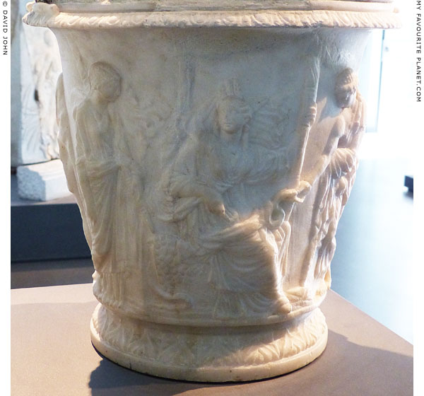 Cinerary urn with a relief of Demeter, Persephone and Iacchos at My Favourite Planet
