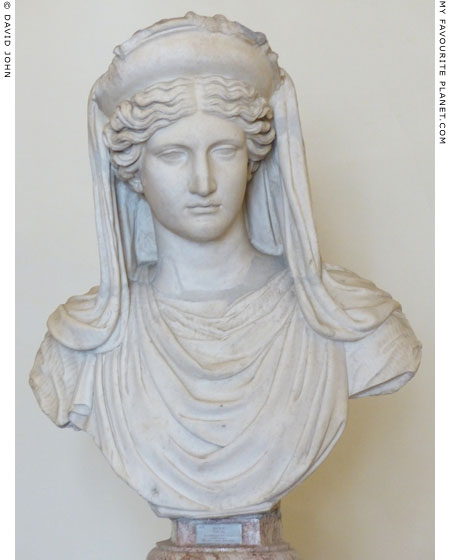 Marble bust of Demeter wearing a diadem and veil, Palazzo Altemps, Rome at My Favourite Planet
