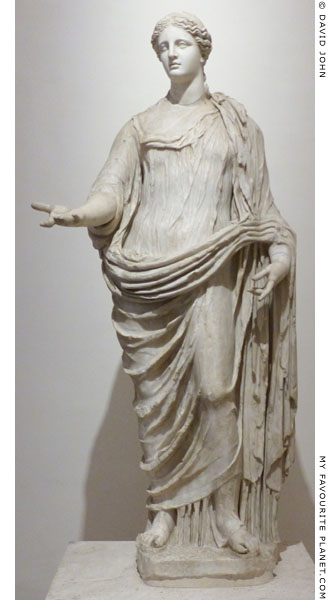 Marble statue of Demeter, Palazzo Altemps, Rome at My Favourite Planet