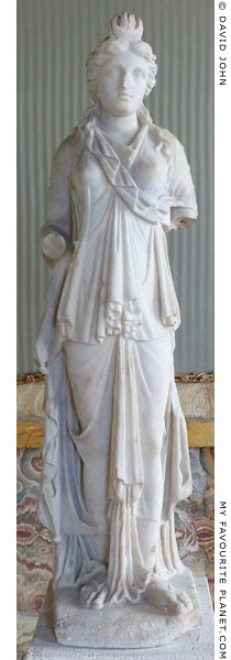 Marble statue of Isis-Demeter, Palazzo Altemps, Rome at My Favourite Planet