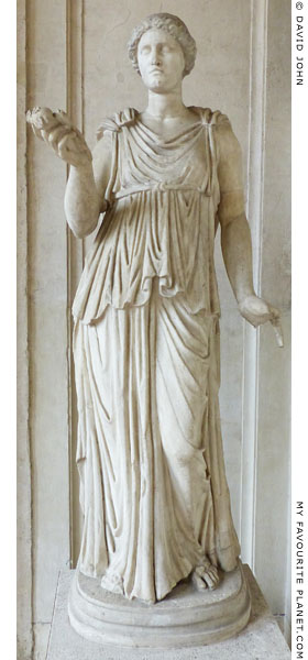Marble statue of Demeter in the courtyard of Palazzo Altemps at My Favourite Planet