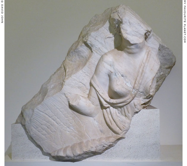 Fragment of a marble pediment with a relief of Ceres at My Favourite Planet