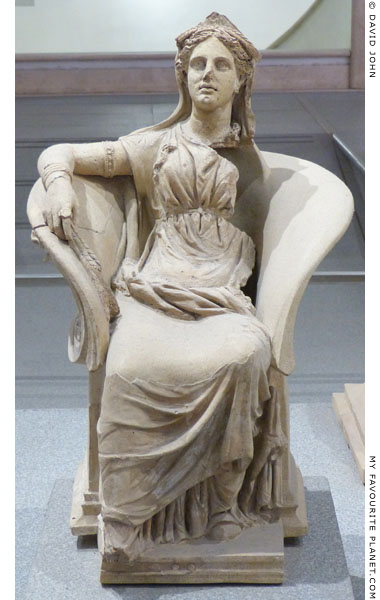 Ceramic statue of Demeter from Ariccia at My Favourite Planet
