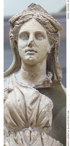 Detail of the statue of Demeter from Ariccia at My Favourite Planet