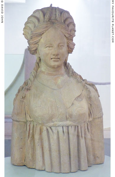 Ceramic bust of Kore of Demeter from Ariccia at My Favourite Planet