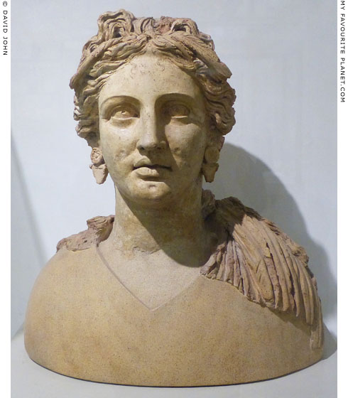 Ceramic bust of Demeter of Demeter from Ariccia at My Favourite Planet