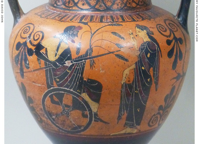 Attic red-figure amphora showing Triptolemos and Demeter at My Favourite Planet