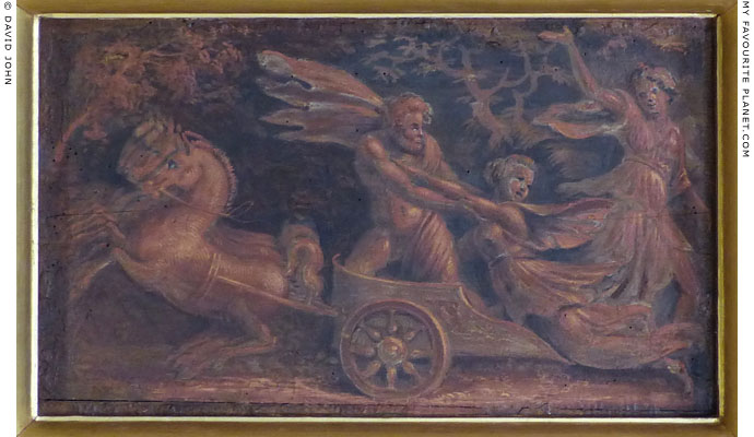 Fresco panel of the abduction of Persephone by Hades, Villa Farnesina, Rome at My Favourite Planet