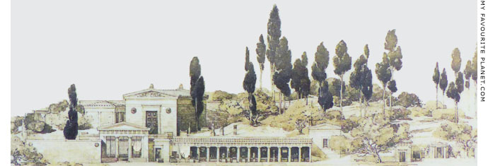 A reconstruction drawing of the Sanctuary of Malophoros, Selinunte at My Favourite Planet