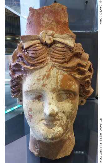 Terracotta head of a bust as a votive offering to Demeter and Kore at My Favourite Planet