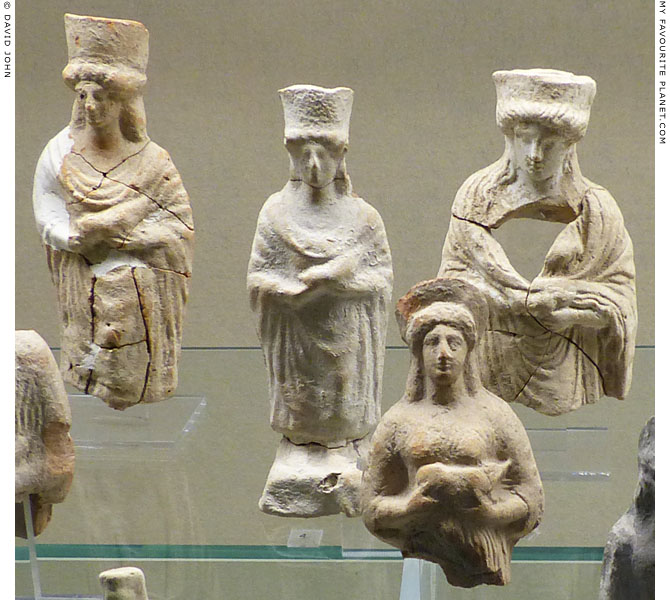 Terracotta figurines from the sanctuary of Demeter and Kore at Kamarina, Sicily at My Favourite Planet