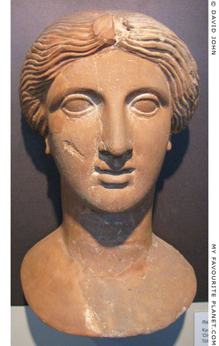 Terracotta bust of Demeter from Olynthos at My Favourite Planet
