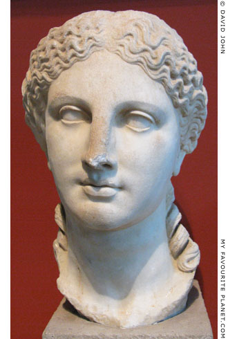 Marble head probably depicting Demeter, altered to portray Livia at My Favourite Planet