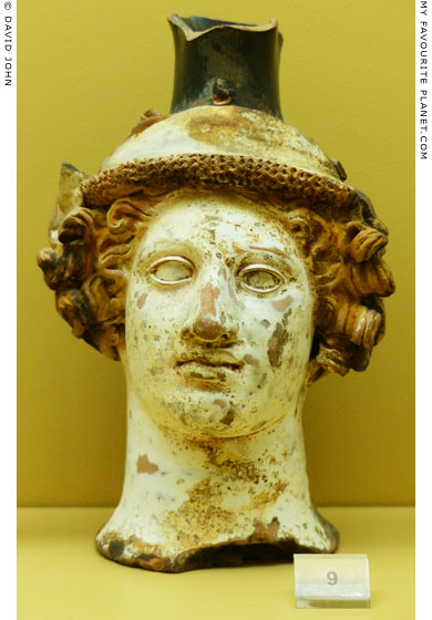Ceramic vase in the form of Dionysus' head, Athens Agora at My Favourite Planet