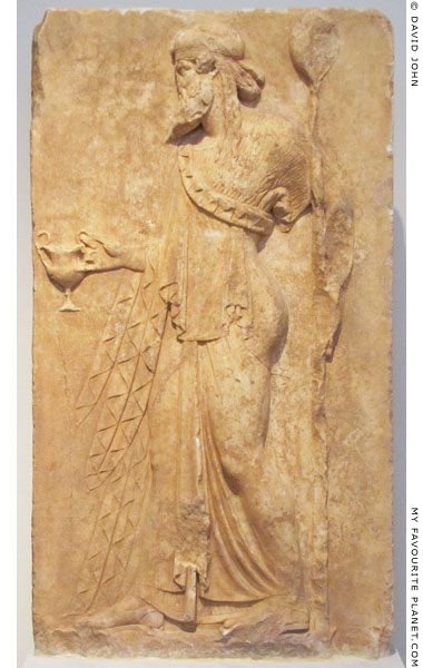 Neo-Attic Archaistic relief of Dionysus from Loutses, Attica at My Favourite Planet
