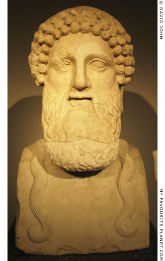 Marble Archaistic herm of bearded Dionysus at My Favourite Planet