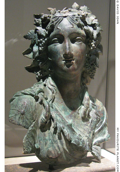 Bronze bust of a maenad at My Favourite Planet