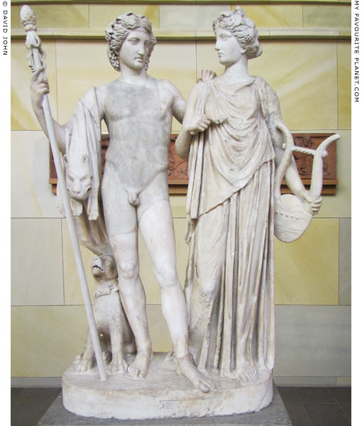 Statue of Dionysus and Ariadne in the Schinkel Museum, Berlin at My Favourite Planet