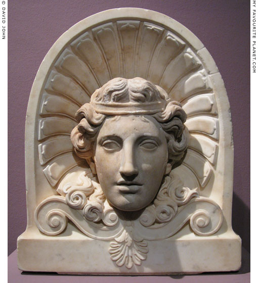 Marble head of youthful Dionysus, Pergamon Museum, Berlin at My Favourite Planet